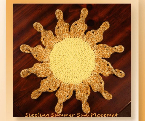 Sizzling Summer Sun Placemat  <br /><br /><font color=