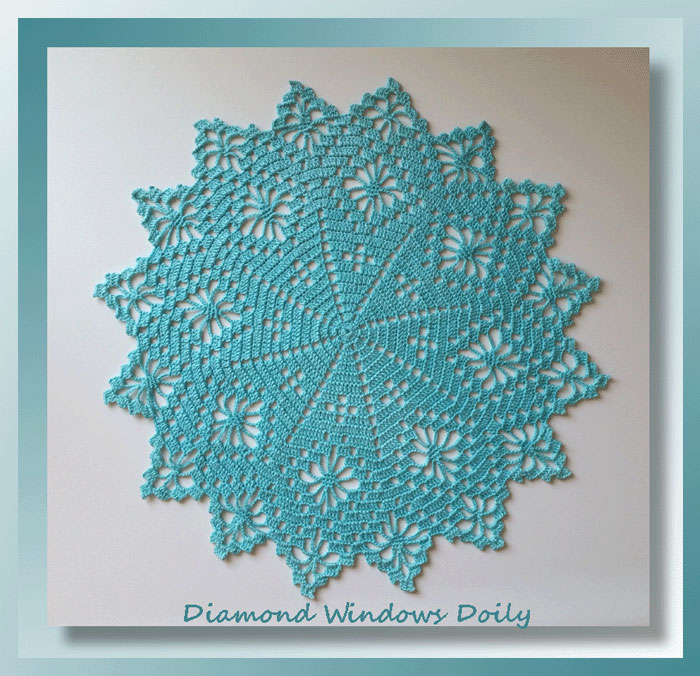 diamond windows doily crochet doily patterns