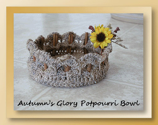 Autumn's Glory Potpourri Bowl  <br /><br /><font color=