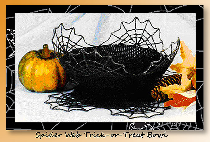 Spider Web Trick Or Treat Bowl Crochet Halloween Candy