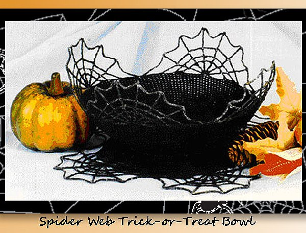 Spider Web Trick-or-Treat Bowl   <br /><br /><font color=