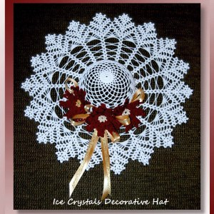 Ice Crystals Decorative Hat