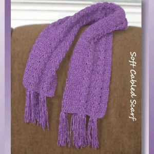 Soft Cabled Scarf & Hat Collection (Scarf)