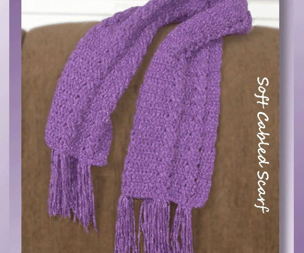 Soft Cabled Scarf &#038; Hat Collection    <br /><br /><font color=