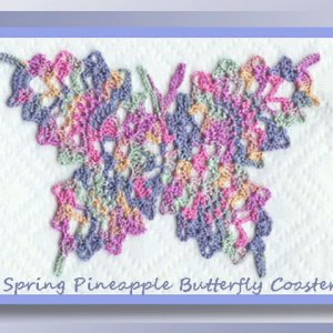 Spring Pineapple Butterfly Coaster