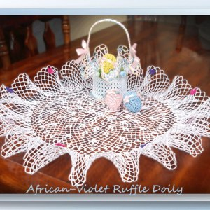 African-Violet Ruffle Doily