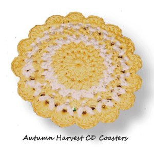 Autumn Harvest CD Coasters