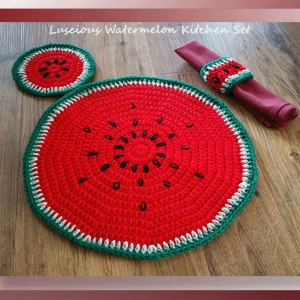 Luscious Watermelon Kitchen Set