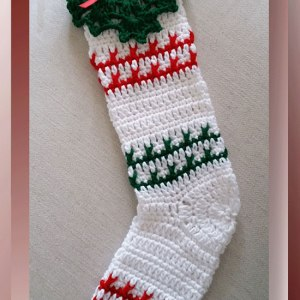 Festive Striped Christmas Stocking