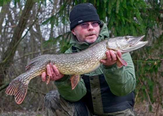 A Double figure pike from January