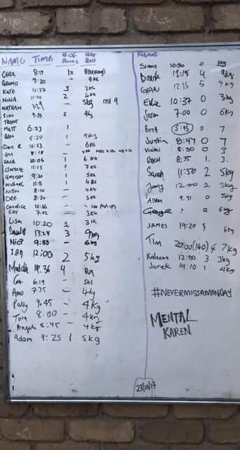 "scores ""Mental Karen"" 23/101/7"
