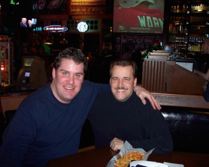 Bundy and JJ at Chickie's and Pete's, photo via Chickie's and Pete's