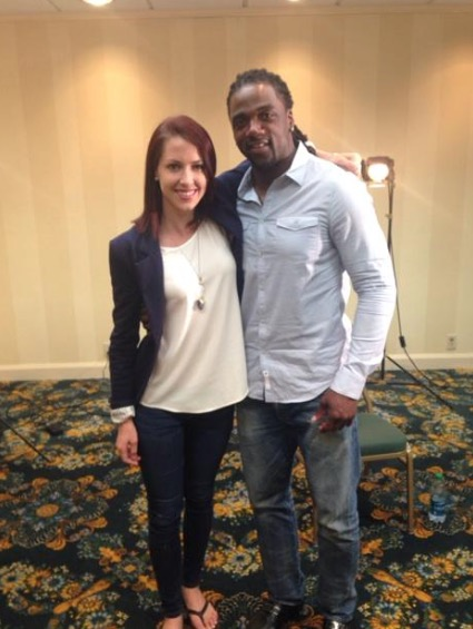 Stallworth, pictured with RT's curiously attractive Abby Martin, who is a close to being a 9/11 truther herself