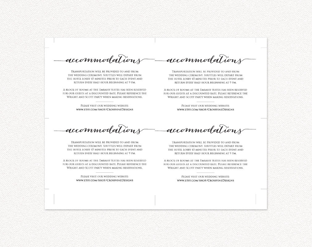 personal information cards template