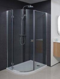 Design Quadrant Single Door Shower Enclosure in Design