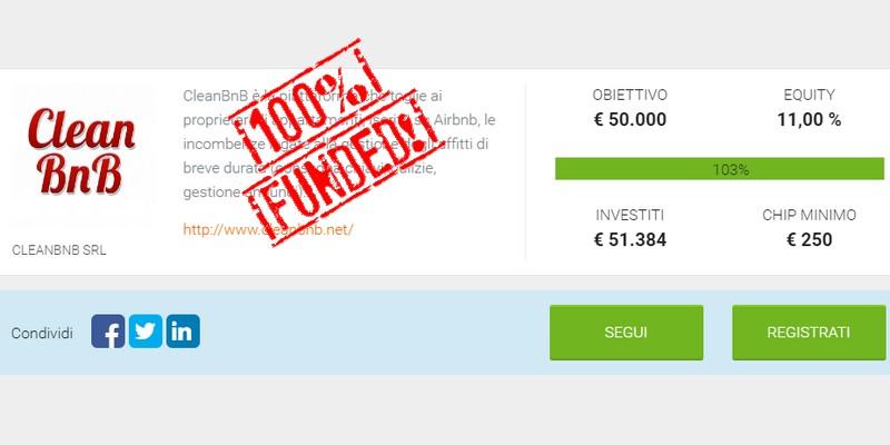 CleanBnB raggiunge l'obiettivo di equity crowdfunding con una settimana di anticipo