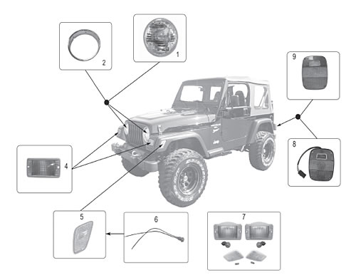 05 Jeep Wrangler Lights Wiring Connector Wiring Diagram