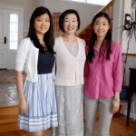 Emily (right) with her mom and sister heading to her cousin's bridal shower!