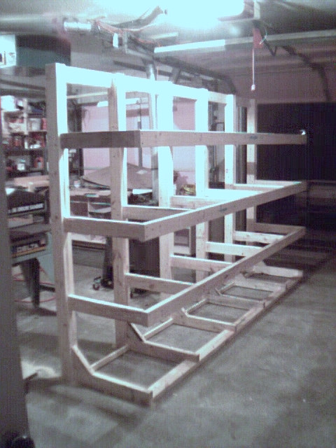 How To Build A Freestanding Lumber Rack Plans Diy Free