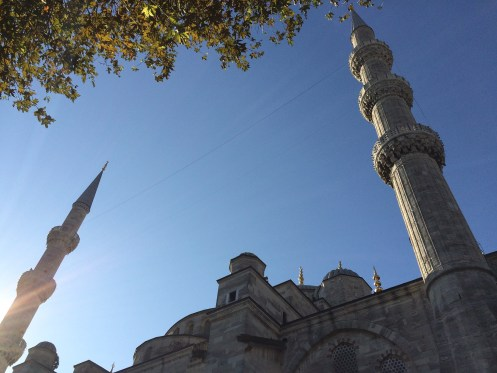 Exploring the incredible Sultan Ahmed Mosque in Istanbul.