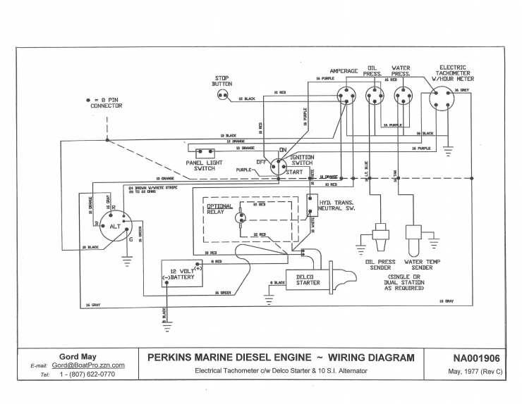 perkins marine wiring diagram