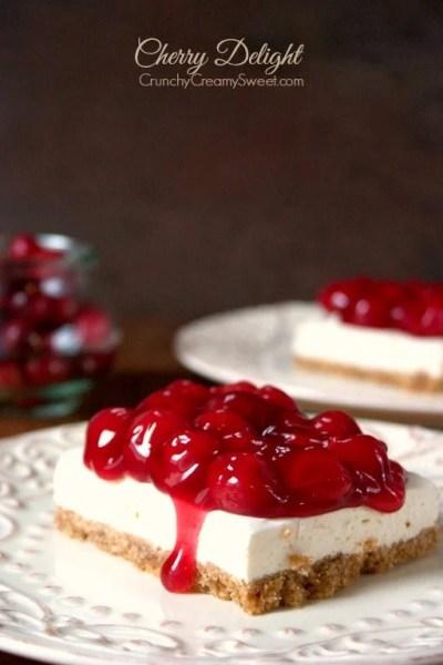 Cherry Delight Recipe - Crunchy Creamy Sweet