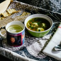 "Chicken Soup with ""Matzo"" Balls"