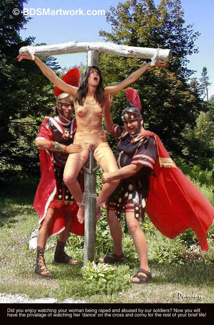 Crucifixion women bdsm would