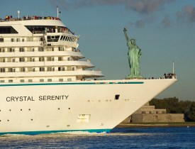 Crystal Serenity Arrives in New York after Historic Northwest Pa