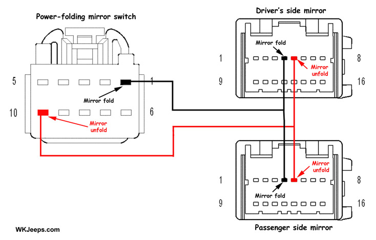 wiring diagram power mirror