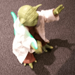 Yoda actually moved along with a lightsaber. It was really cool.