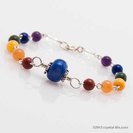 Cobalt Blue Energy Bead Chakra Bracelet Crystal Life