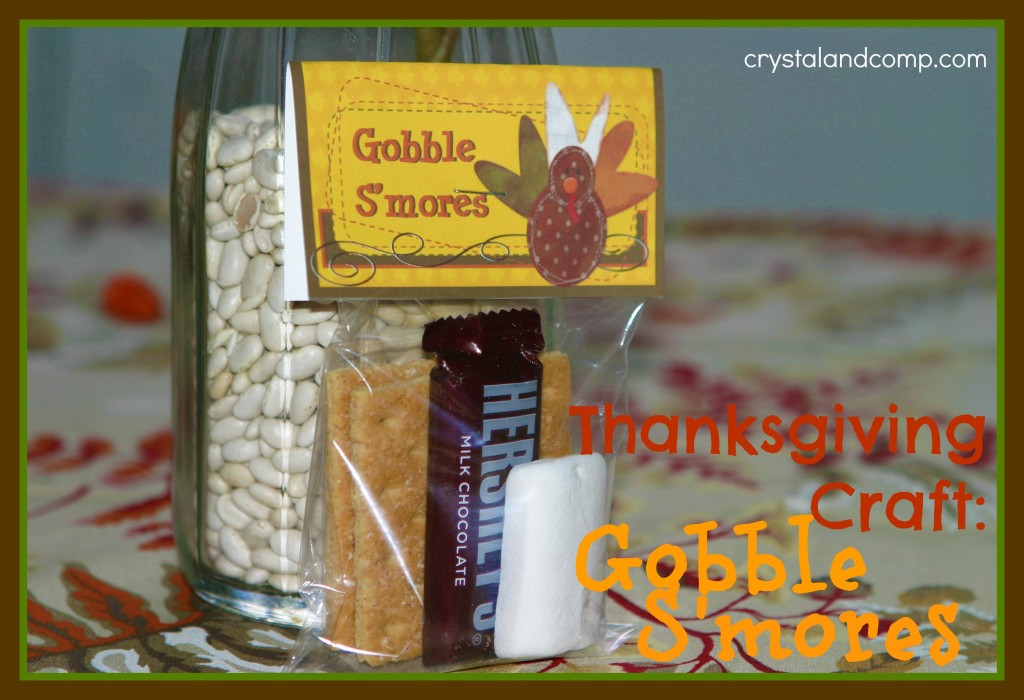 Thanksgiving Crafts Gobble Smores (free printable) CrystalandComp