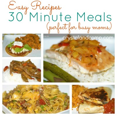 30 Minute Meals: 17 Fast Cooking Dinners