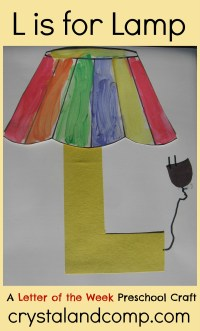 Alphabet Activities for Preschoolers: L is for Lamp