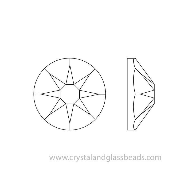 Crystal AB ss48 Non-Hotfix Flatback Crystals Swarovski Wholesale Pack 96
