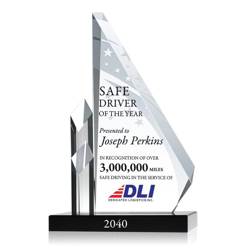 Excellence in Workplace Safety Award - Wording Sample by Crystal Central