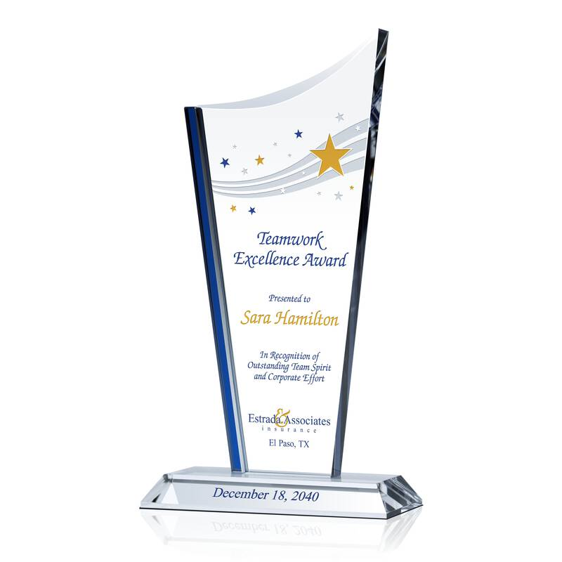 Teamwork Excellence Award - Wording Sample by Crystal Central
