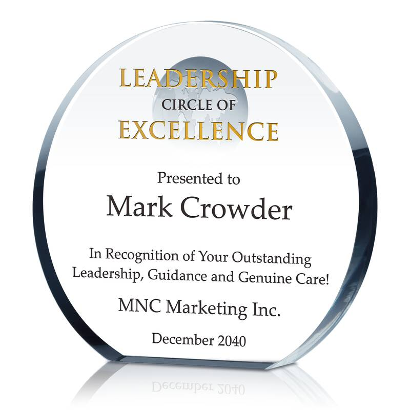 Leadership Circle of Excellence Award - Wording Sample by Crystal