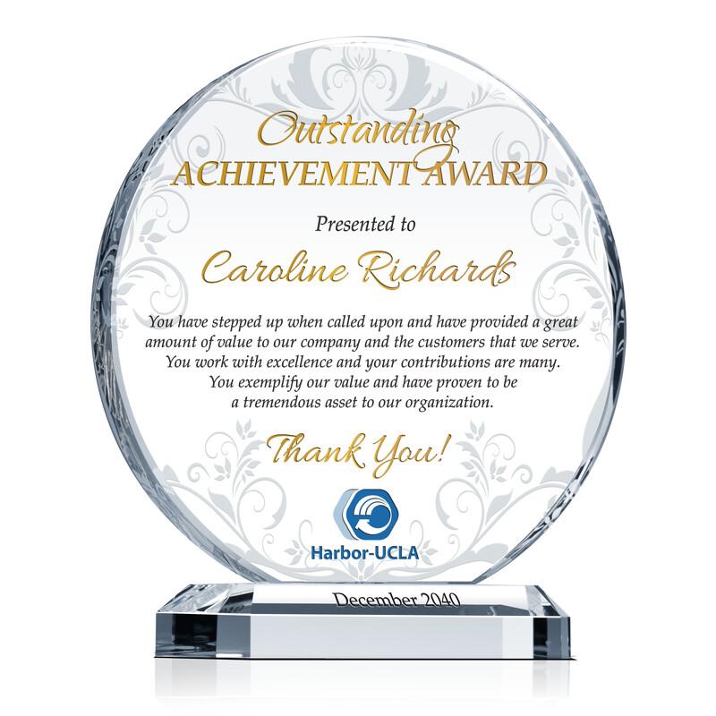 Board Member Appreciation Award - Wording Sample by Crystal Central - certificate of appreciation verbiage