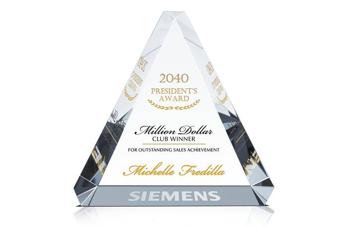 Top Sales Recognition Plaques - Crystal Central