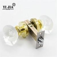 Interior Crystal Glass Door Knobs with Locks | YiJia Crystal