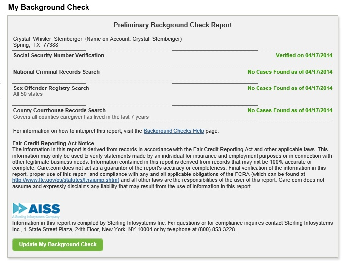 Employee Screening, Criminal Records How can i check my background - background report