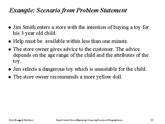 Example Scenario from Problem Statement - problem statement example