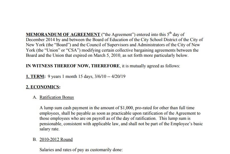 Member Contract - CSA