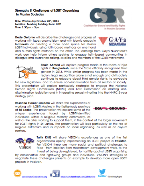 CSBR Panel ILGA-Asia 2015