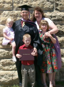 Graduation day with a Master's Degree in Administration.