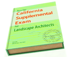 Pass the California Supplemental Exam for Landscape Architects study guide ebook