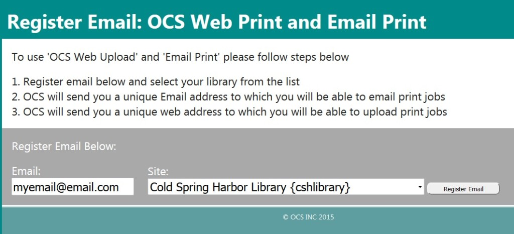 Cold Spring Harbor Library - Wireless Printing