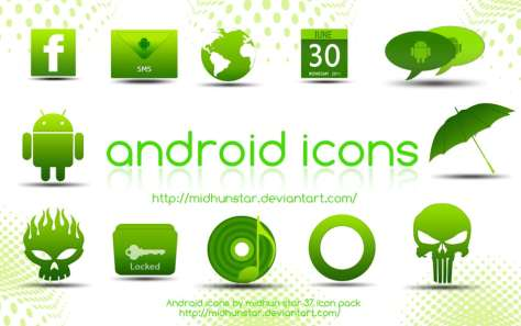 Android Green Icons